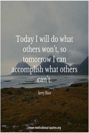 Jerry Rice on motivation